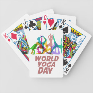 22nd February - World Yoga Day Bicycle Playing Cards