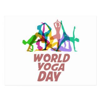 22nd February - World Yoga Day Postcard
