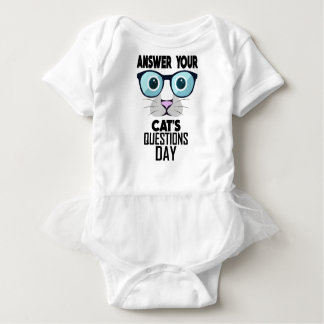 22nd January - Answer Your Cat's Questions Day Baby Bodysuit