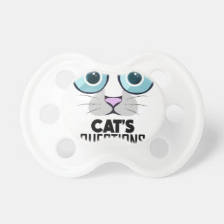 22nd January - Answer Your Cat's Questions Day Baby Pacifiers