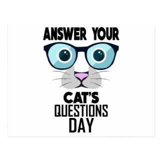 22nd January - Answer Your Cat's Questions Day Postcard