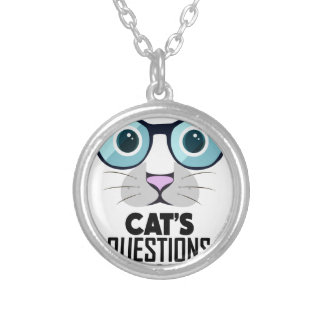 22nd January - Answer Your Cat's Questions Day Silver Plated Necklace
