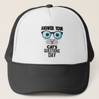 22nd January - Answer Your Cat's Questions Day Trucker Hat
