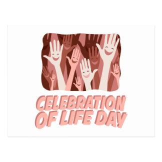 22nd January - Celebration Of Life Day Postcard