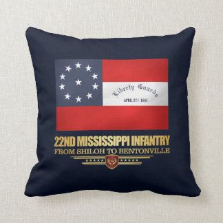 22nd Mississippi Infantry Throw Pillow