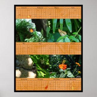 22x28 Butterfly Calendar Poster