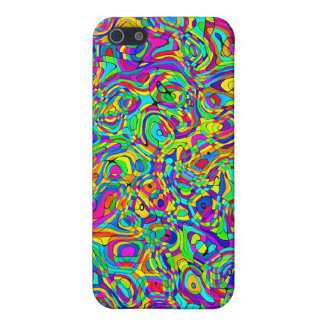 232 Psychedelic Groovy Retro Puzzle Cover Colorful Cover For iPhone 5/5S