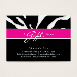 232 Salon Gift Card Zebra Animal Lips Pink