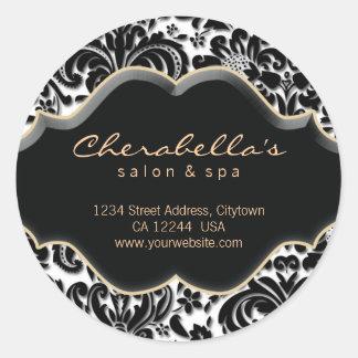 232 Salon Spa Sticker Bronze gold Damask