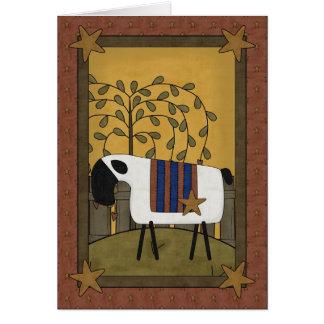 23 23rd Twenty-third Psalm Sheep Greeting Card