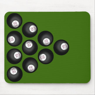 23 Ball of Chaos Pool Table Mouse Pad