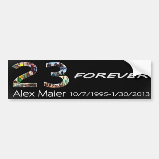 23 Forever Alex Maier Bumper Sticker