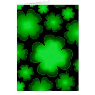 23 Four Leaf Clovers Card