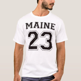 23 Maine - Black T-Shirt