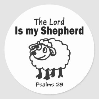 23 Psalm Round Sticker