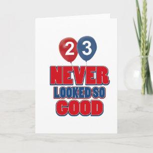 23 Year Old Birthday Designs Card