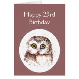 23rd Birthday Who Loves You, Cute Owl Humour Card
