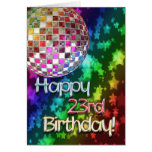 23rd birthday with disco ball and rainbow of stars