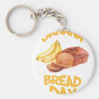 23rd February - Banana Bread Day Keychain