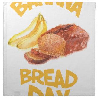 23rd February - Banana Bread Day Napkin