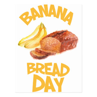 23rd February - Banana Bread Day Postcard