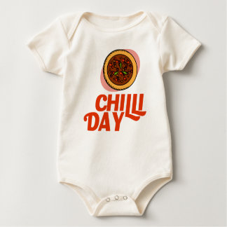 23rd February - Chilli Day - Appreciation Day Baby Bodysuit