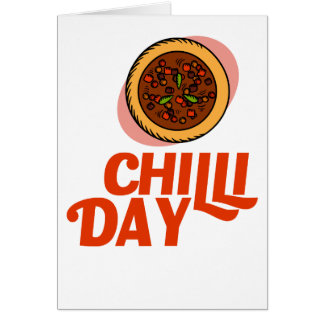 23rd February - Chilli Day - Appreciation Day Card