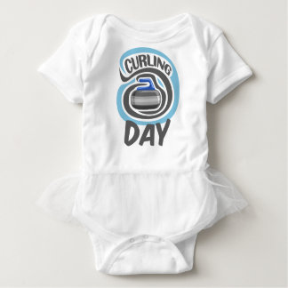 23rd February - Curling Is Cool Day Baby Bodysuit