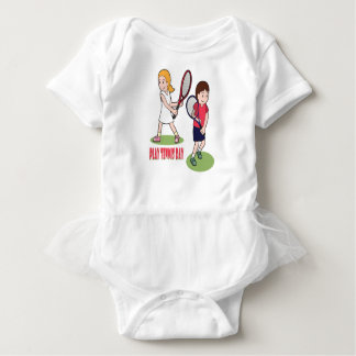 23rd February - Play Tennis Day - Appreciation Day Baby Bodysuit