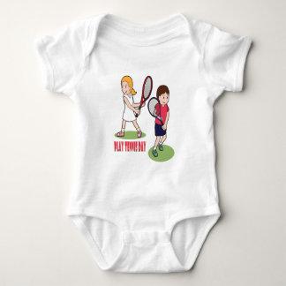 23rd February - Play Tennis Day - Appreciation Day Baby Bodysuit