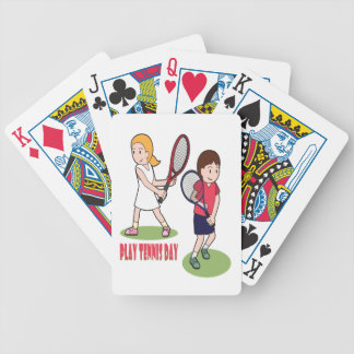 23rd February - Play Tennis Day - Appreciation Day Bicycle Playing Cards