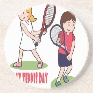 23rd February - Play Tennis Day - Appreciation Day Coaster