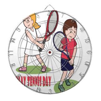 23rd February - Play Tennis Day - Appreciation Day Dartboard