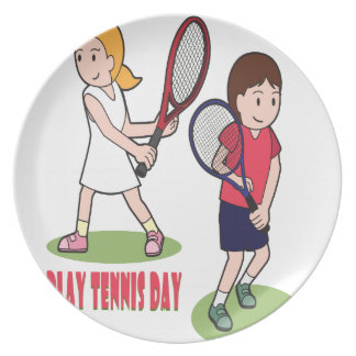 23rd February - Play Tennis Day - Appreciation Day Dinner Plate