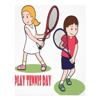23rd February - Play Tennis Day - Appreciation Day Letterhead