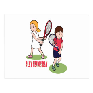 23rd February - Play Tennis Day - Appreciation Day Postcard