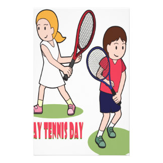 23rd February - Play Tennis Day - Appreciation Day Stationery