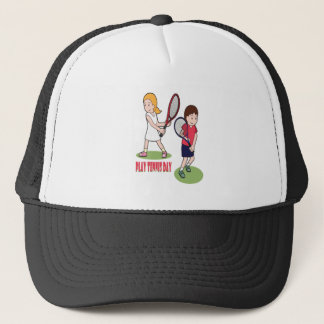 23rd February - Play Tennis Day - Appreciation Day Trucker Hat