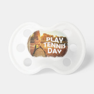23rd February - Play Tennis Day Baby Pacifier