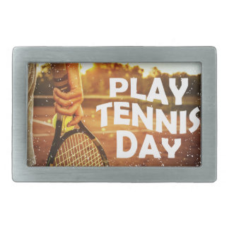 23rd February - Play Tennis Day Belt Buckle