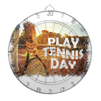 23rd February - Play Tennis Day Dartboard