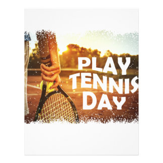 23rd February - Play Tennis Day Letterhead