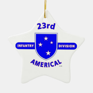"23RD INFANTRY DIVISION ""AMERICAL"" PRODUCTS CERAMIC STAR ORNAMENT"
