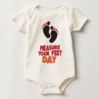 23rd January - Measure Your Feet Day Baby Bodysuit