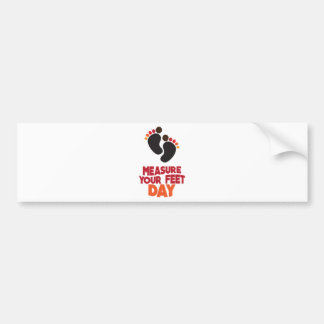 23rd January - Measure Your Feet Day Bumper Sticker
