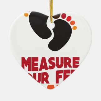 23rd January - Measure Your Feet Day Ceramic Heart Ornament