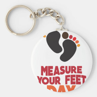 23rd January - Measure Your Feet Day Keychain