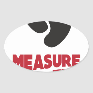 23rd January - Measure Your Feet Day Oval Sticker