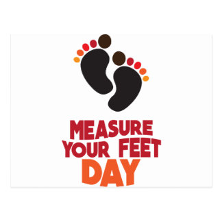 23rd January - Measure Your Feet Day Postcard