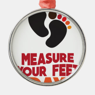 23rd January - Measure Your Feet Day Silver-Colored Round Ornament